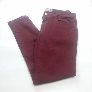 Zara Trafalic Burgundy Skinny Jean's